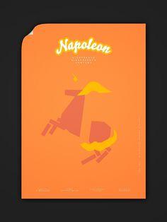 Minimalist Modern History 15c–19c on the Behance Network #history #modern #lee #wonchan #napoleon #poster #minimalist #typography