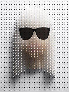 Lady Gaga pin portrait