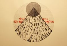 Domenico Romeo #calligraphy #mountain #illustrations