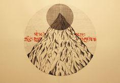 Domenico Romeo #calligraphy #mountain #illustrations