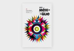 Mexique #les #colored #graphiquants #typeface