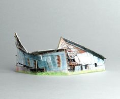 brokenhouses-19 #sculpture #house #art #broken #miniature