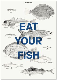 Content of: Documents – Eat Your Fish Poster #fish