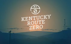 Kentucky Route Zero #title #game #geometric #video #illustration #logo #minimalist #typography