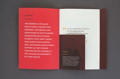 George M. Pullman Foundation Annual Report #print #typography #type #layout #spread #annual