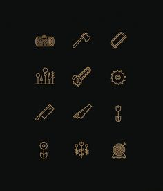 Icons on the Behance Network #wilderness #outdoors #stools #icons