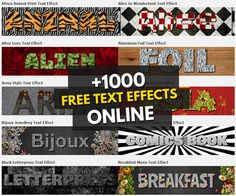 Over 1000 Online Text Effects for Free