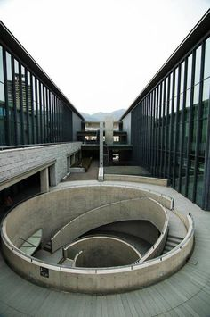 CJWHO ™ (Hyōgo Prefectural Museum of Art, Japan by Tadao...) #concrete #museum #of #design #architecture #art #stairs #japan
