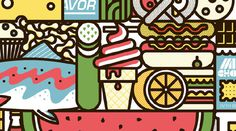 snacks quarterly #illustration #design #snacks #newsletter