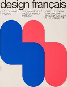 "canefantasma: ""Jean Widmer, poster, Design français, 22 octobre au 20 décembre 1971, 1971 """
