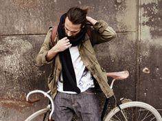 Likes | Tumblr #scarf #man #bike