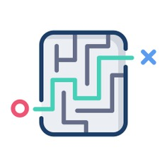 See more icon inspiration related to maze, way, labyrinth, road, maps and location, planning, solution, strategy, route, gaming, puzzle, entertainment and business on Flaticon.
