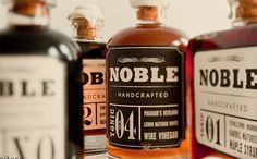 Noble Handcrafted - TheDieline.com - Package Design Blog #glass #pot #label #typography