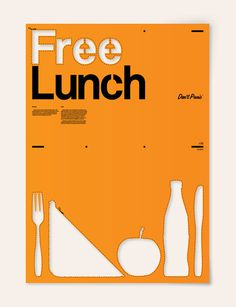 free lunch #stencil #poster
