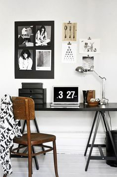 Lovely workspace #computer #lamp #live #pictures #house #chair #home #desk #laugh #love