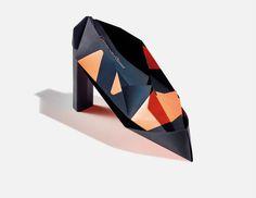 origami shoe #invite #design #origami #print #foil #fashion #origami
