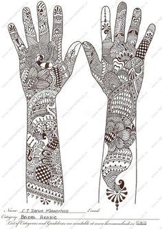 Arabic Hand Designs   C.T.Zafna Mahamood