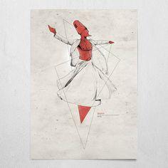 #dervishud #claretred #poster #wallart #alankay #dervish #mystic