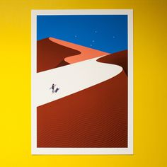 surfing, dune, night, illustration