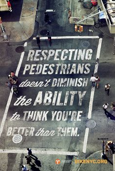 RESPECTING_PEDESTRIANS_47 75x71.indd #advertising #bike #typography
