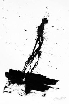 "The Krank; Painting, ""Loneliness"" #thekrank #berlin #art #urbanart #painting #typography #krank"