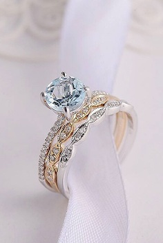 Aquamarine engagement rings have a fantastic stone that can magnificently show different colors of the world's seas and oceans.