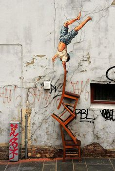 Street Art by Ernest Zacharevic #zacharevic #ernest #art #street