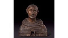 Bust representing a Saint monk