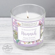 Country Diary Personalised Botanical Scented Candle - pastel scented candle