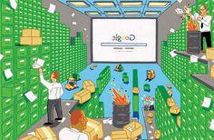 Google, Archive, Search, Art, Illustration