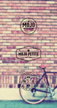 MojoPetite #line #branding #vintage #fashion #logo