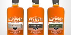 whiskey, wayward, orange, bottle, design, glass, spirits #whiskey #wayward #bottle #design #orange #glass #spirits