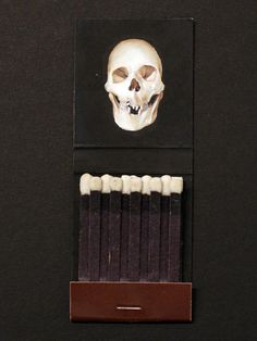 Lazy As... #design #branding #skull #product design #matches #match box
