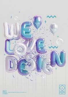 Digital Art inspiration #3d type
