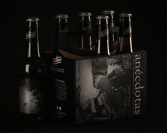 Anécdotas on Behance #beer #movie #spain #black #night #gold #ancdotas #story