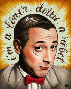 Hey Oscar Wilde! #illustration #pee wee herman #by #brittany #w #smith