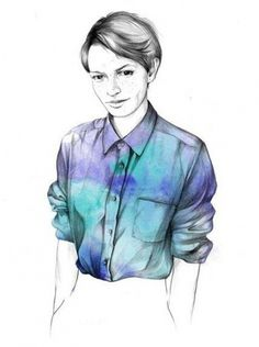 INI #illustration #fashion #photoshop #drawing #sexy #mode #nice #fragil #aquarell