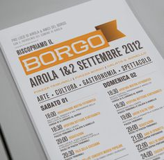 Riscopriamo Il Borgo on the Behance Network #graphic design #typography #layout