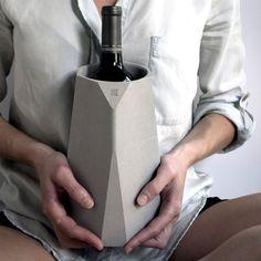 Concrete Wine Cooler by Francisco Corvi concrete wine cooler #wine cooler #concrete #product design #design