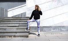 Image of LOKO KFKS leggings #surf #sport #active #skate #design #blue