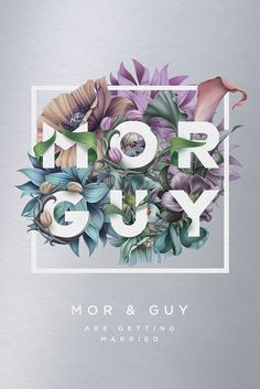 Mor & Guy wedding invitation