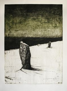 n.wise #intaglio #vague #etching #landscape