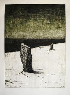 n.wise #intaglio #vague #etching #landscape