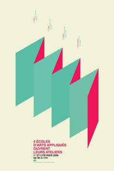 Portes Ouvertes, by We Are From L.A #graphic design #design #creative #poster #los angeles #inspiration