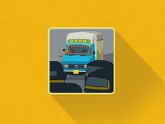 MUMBAI flat icon #flat #tempo #iconography #icon #mumbai #india #rickshaw #traveller