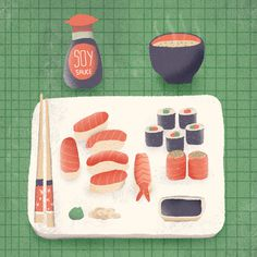 #illustration #sushi #japanesefood #art