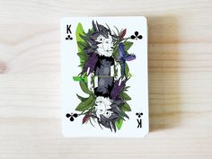 AO MATU design playing cards by Nastya KFKS. Floral and tropical design with great characters. #kfks #print #cards #graphic #playing #design #store #illustration #character