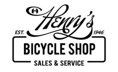 henry's bicycle logo #typography #logo #script #bicycle #bike shop