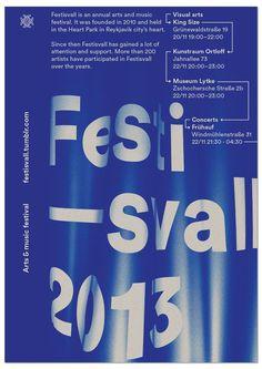 Festisvall 2013 on Behance #cc