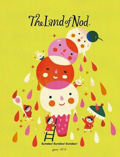 The Terrier and Lobster: Land of Nod Catalog Art #illustration
